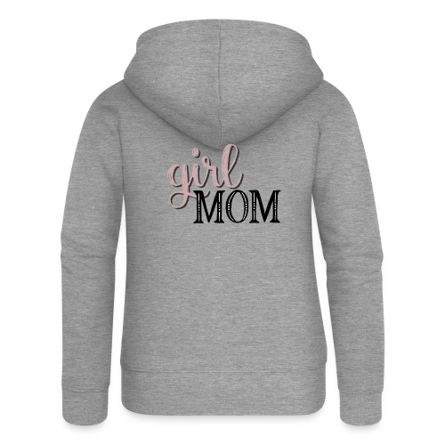 Schriftzug Girl Mom - Frauen Premium Kapuzenjacke