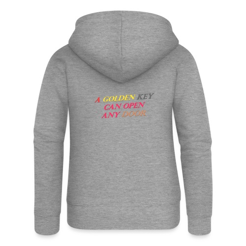 Say in English with 3D effect - Women's Premium Hooded Jacket