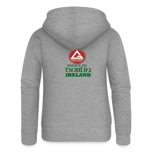 Gracie Barra Dublin Gaelic Celtic Font PNG - Women's Premium Hooded Jacket