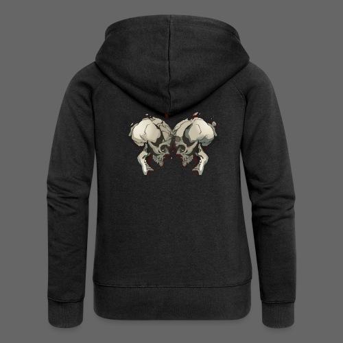 MHF_Logo_Loose-Skulls - Women's Premium Hooded Jacket