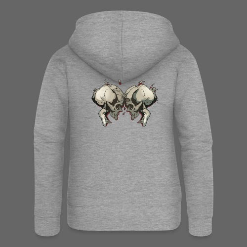 MHF_Logo_Loose-Skulls - Women's Premium Hooded Jacket