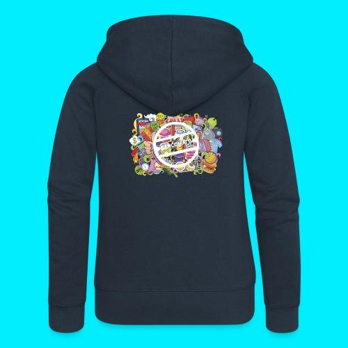 maglia logo doodle - Felpa con zip premium da donna
