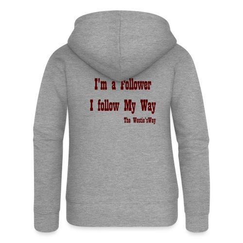I follow My Way Brown - Rozpinana bluza damska z kapturem Premium