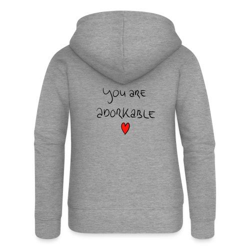 adorkable - Women's Premium Hooded Jacket