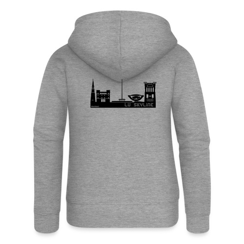 Lu skyline de Terni - Felpa con zip premium da donna
