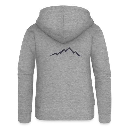 swiss alps clipart sihllouette ski mountains - Vrouwenjack met capuchon Premium