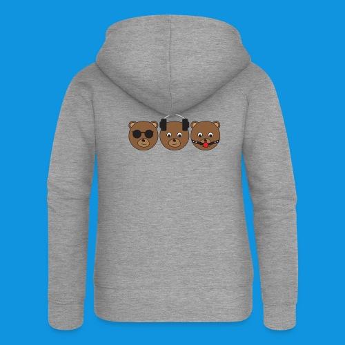 3 Wise Bears - Women's Premium Hooded Jacket