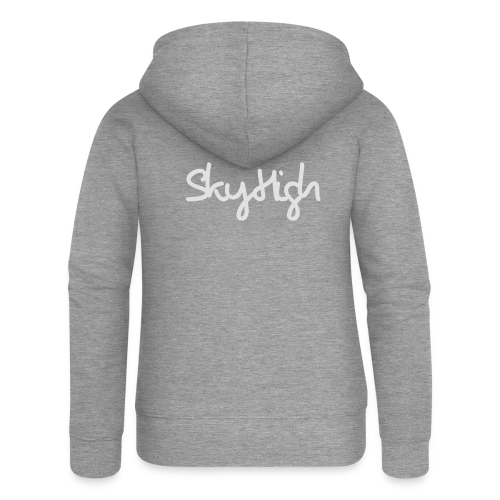 SkyHigh - Men's T-Shirt - Gray Lettering - Women's Premium Hooded Jacket
