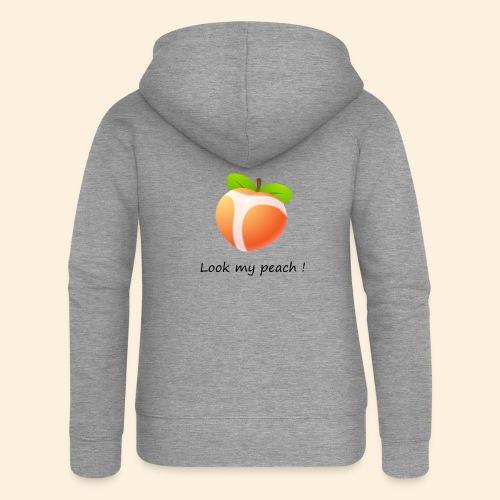 Look my peach - Veste à capuche Premium Femme