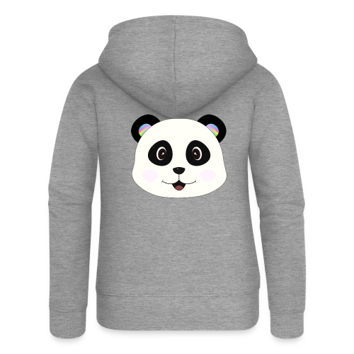 panda rainbow - Chaqueta con capucha premium mujer