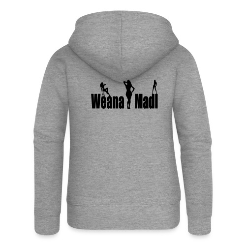 weana madl - Frauen Premium Kapuzenjacke