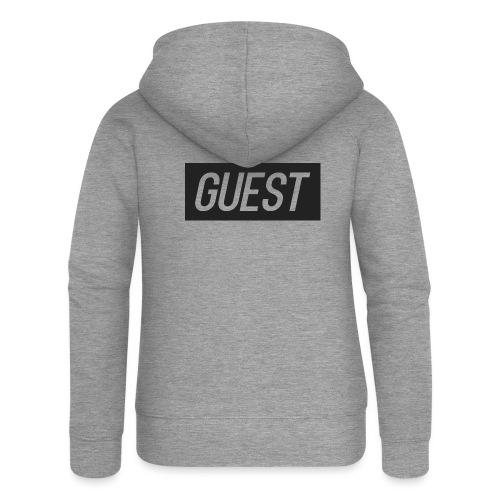 G-rectangle (grey) - Women's Premium Hooded Jacket