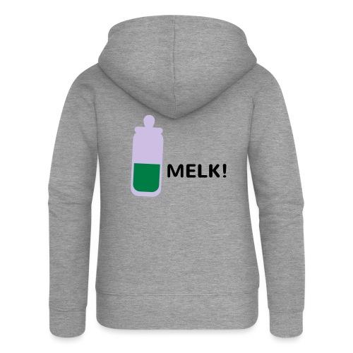 Grappige Rompertjes: Melk - Vrouwenjack met capuchon Premium