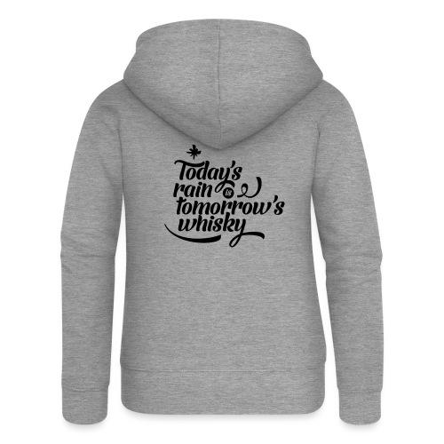 Todays's Rain Women's Tee - Quote to Front - Women's Premium Hooded Jacket