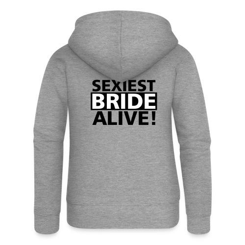 sexiest bride alive - Frauen Premium Kapuzenjacke