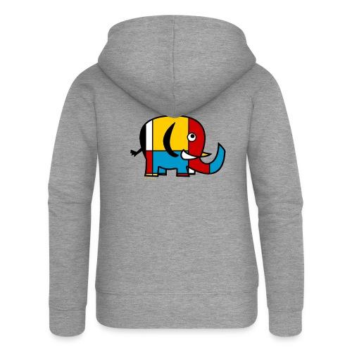Mondrian Elephant - Women's Premium Hooded Jacket