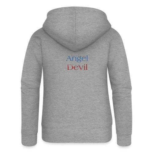 Angelo o Diavolo? - Felpa con zip premium da donna