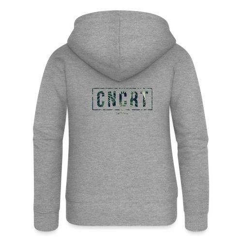 CNCRT white shirt (Plant Print) - Vrouwenjack met capuchon Premium