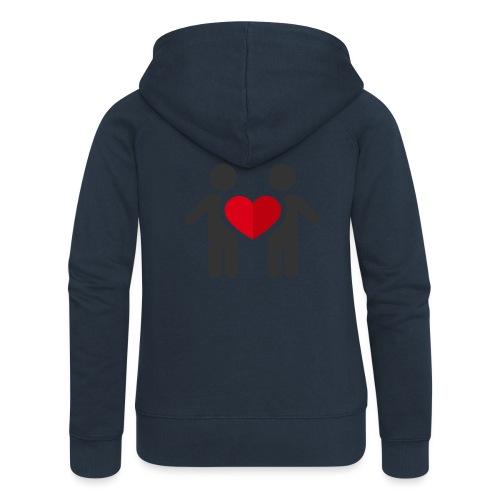 Chemise amour - Veste à capuche Premium Femme