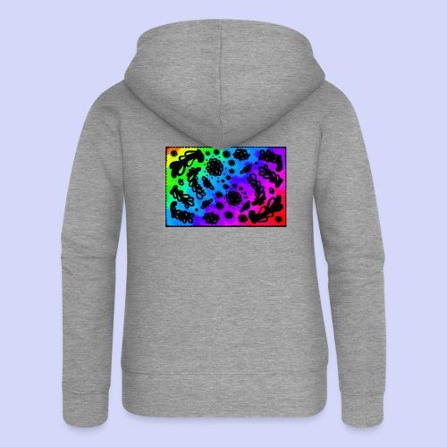 Rainbow doodle - Female shirt - Dame Premium hættejakke