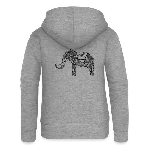 Éléphant oriental - Veste à capuche Premium Femme