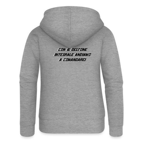 scritta deltone - Felpa con zip premium da donna