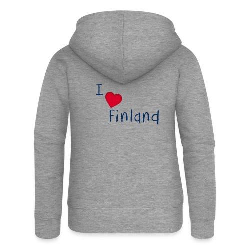 I Love Finland - Naisten Girlie svetaritakki premium