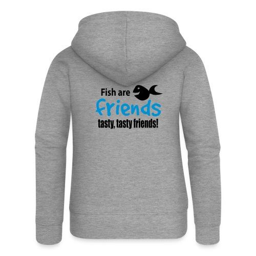 Fisk er venner - Premium hettejakke for kvinner