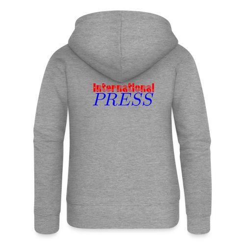 int_press-png - Felpa con zip premium da donna
