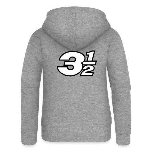 Three and a Half Logo - Women's Premium Hooded Jacket
