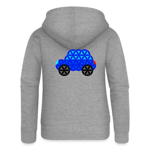 The Car Of Life - M01, Sacred Shapes, Blue/R01. - Women's Premium Hooded Jacket
