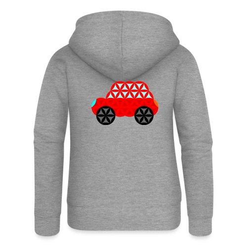 The Car Of Life - M01, Sacred Shapes, Red/R01. - Women's Premium Hooded Jacket