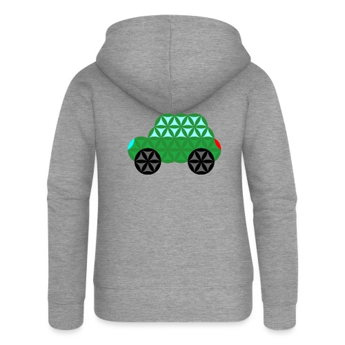 The Car Of Life - M02, Sacred Shapes, Green/363 - Women's Premium Hooded Jacket