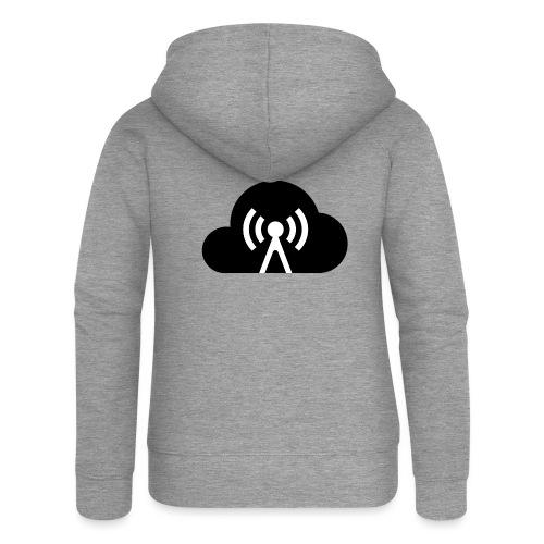 Cloud Cast Wolke schwarz mit Schriftzug - Frauen Premium Kapuzenjacke