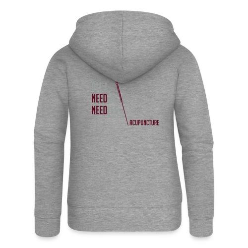 All I need is needles - Veste à capuche Premium Femme