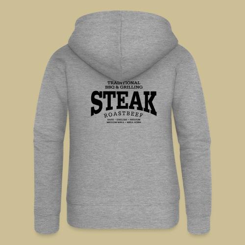 Steak (black) - Frauen Premium Kapuzenjacke