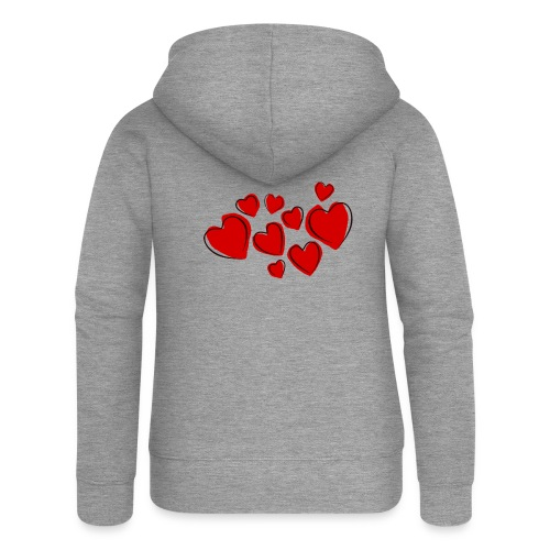 hearts herzen - Frauen Premium Kapuzenjacke