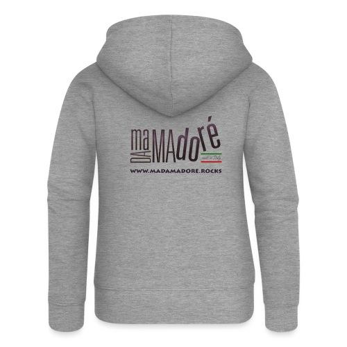 T-Shirt Premium - Donna - Logo Standard + Sito - Felpa con zip premium da donna