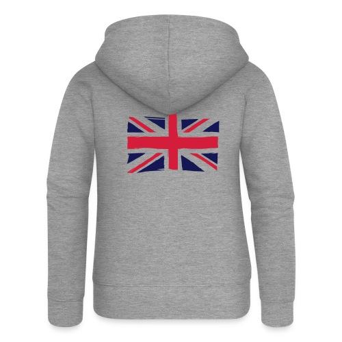 vlag engeland - Vrouwenjack met capuchon Premium