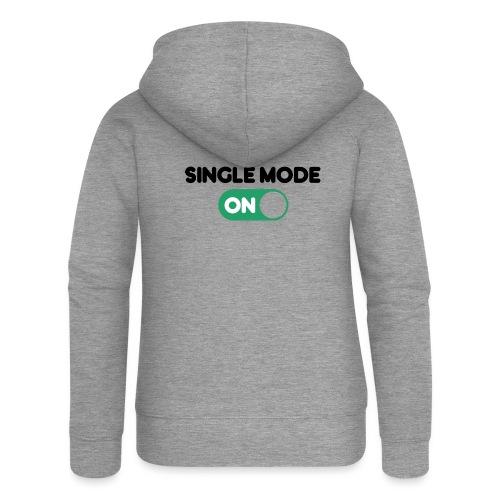 single mode ON - Felpa con zip premium da donna