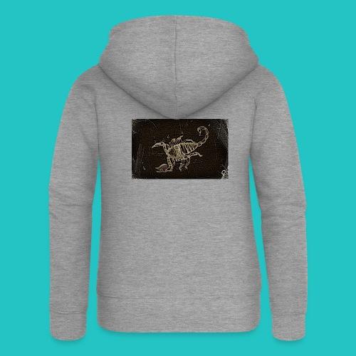 skorpion_grafika-jpg - Rozpinana bluza damska z kapturem Premium