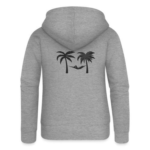 Hängematte mitzwischen Palmen - Frauen Premium Kapuzenjacke