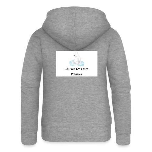 Sauver Les Ours Polaires - Veste à capuche Premium Femme