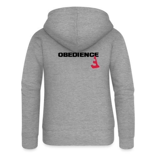 Obedience mit Pylone - Frauen Premium Kapuzenjacke