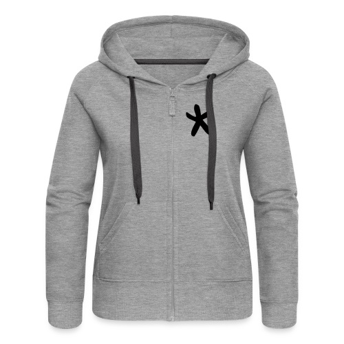 Wills Cwtch Hoodie, with a star on the front and - Women's Premium Hooded Jacket