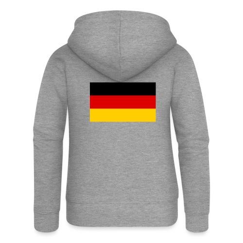 2000px Flag of Germany svg - Frauen Premium Kapuzenjacke