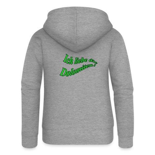 Ich liebe die Dolomiten - Frauen Premium Kapuzenjacke