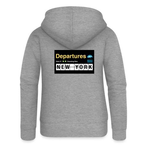 Departures Defnobarre 1 png - Felpa con zip premium da donna