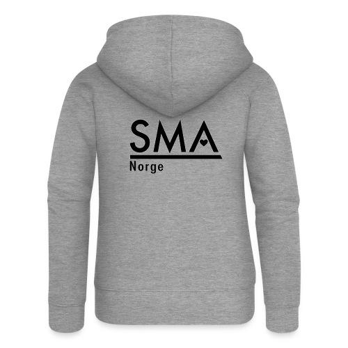 SMA Norge logo - Premium hettejakke for kvinner