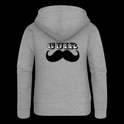Cuir Moustache - Logo Noir - Women's Premium Hooded Jacket